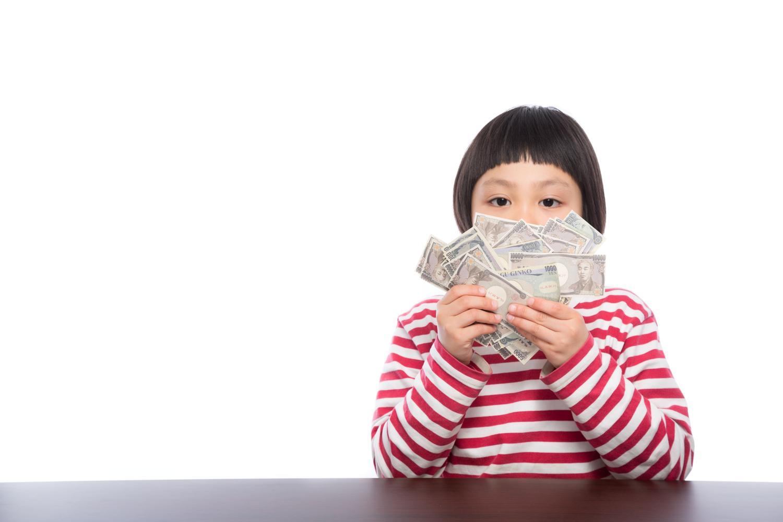 女の子、子ども、お金