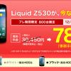 【楽天モバイル】Liquid Z530値引キャンペーン