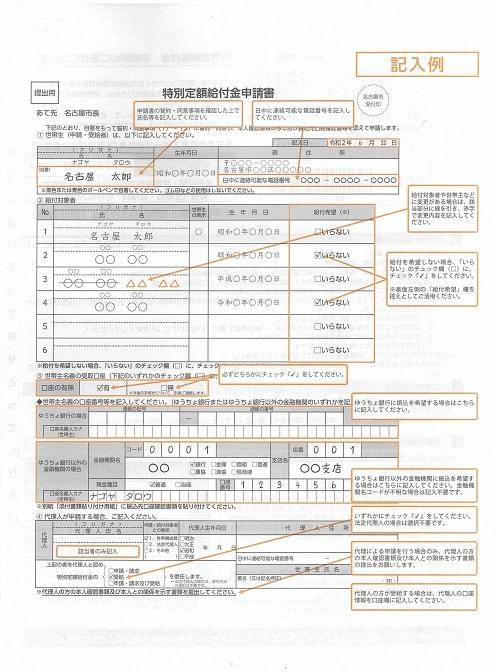 申請書の記入例